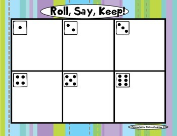 """Let It Snow! """"Roll, Say, Keep!"""" Alphabet Center, Game, and Printables"""