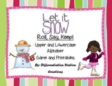 "Let It Snow! ""Roll, Say, Keep!"" Alphabet Center, Game, and Printables"