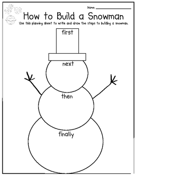 Let It Snow! Snowman Thematic Unit