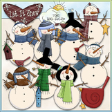 Let It Snow Snowmen Clip Art - Snowman Clip Art - CU Clip