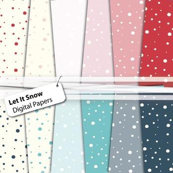 Let It Snow - Winter Digital Papers