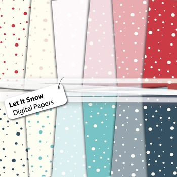 Let It Snow - Winter Digital Papers