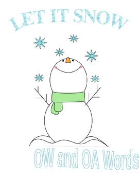 Let It Snow - Words with OA and OW