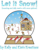 Let It Snow! {counting and tally marks with snow globes}