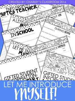 Let Me Introduce Myself! - Get to know your gifted student