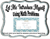 Let Me Introduce Myself Using Math Problems