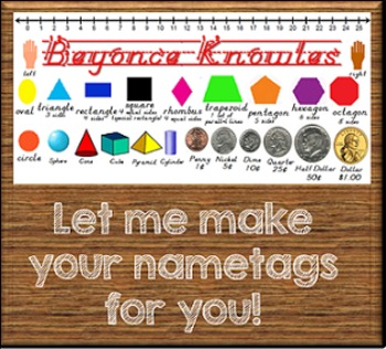 Let Me Make Cool, Customized Name Tags For You! {24 hr turnaround!}