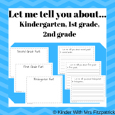 Let Me Tell You About - End of Year Writing Activity