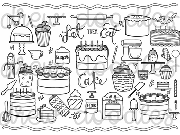 Let Them Eat Cake Coloring Page