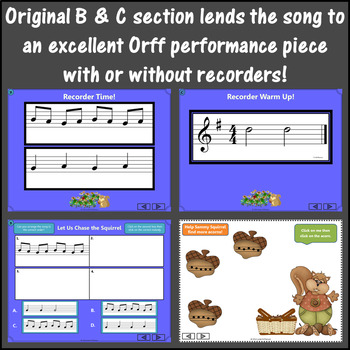 Let Us Chase the Squirrel: Orff, Recorder, Form, Melody, Instruments and More