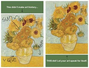 Let Your Art Speak for Itself Sign