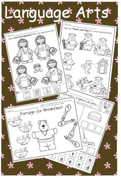 Once Upon a Time in Kindergarten * Literacy and Math Bundle