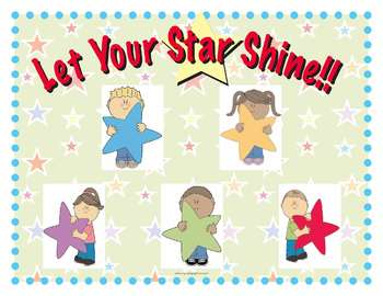 Let Your Star Shine / Everyone Can Be a Star Posters