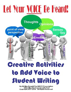 Let Your VOICE Be Heard!  How to teach voice in Writing