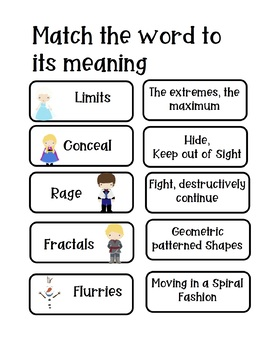 Let it Go: Frozen Reading Test Prep, Sorting Cards, Writing, Smartboard
