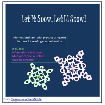 Informational Text - Let it Snow, Let It Snow!