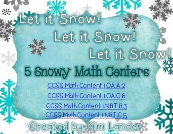 Let it Snow! Let it Snow! Let it Snow!  5 Math Centers CC Aligned