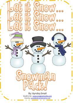 Let it Snow! Let it Snow! Let it Snow!  Snowman Pack!