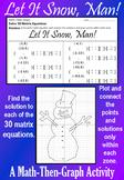 Let It Snow, Man! - Matrix Equations - A Math-Then-Graph Activity