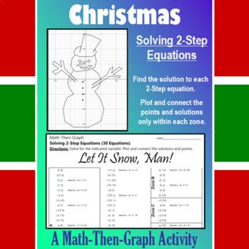 Let it Snow, Man! - A Math-Then-Graph Activity - Solve 2-Step Equations