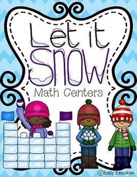 Let it Snow Winter Math Centers