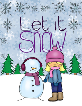 Let it Snow Object Cards