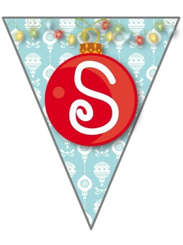 *Let it Snow* Pennant Banner
