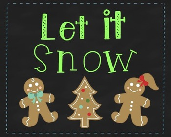 Winter Poster, Class Decor, Holiday Sign, Bulletin Board,