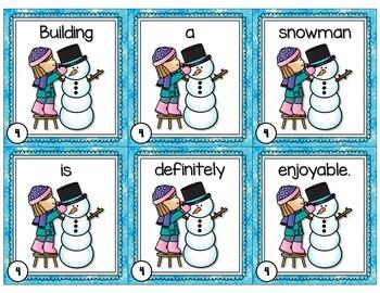 Let it Snow Scrambled Sentences