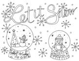 Let it Snow Snow Globe Coloring Sheet