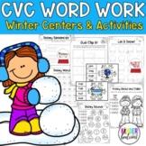 #hotwinter Winter CVC Literacy Activities, Centers, & Printables