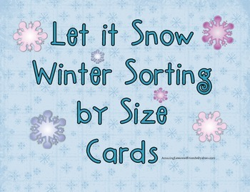 Let it Snow Winter Shoring by Size Cards
