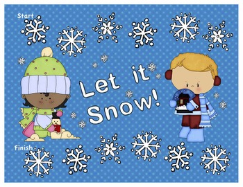 Let it Snow!  Winter Themed Addition Board Game