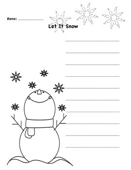 Let it Snow Write the Room