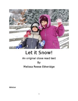 Let it Snow informational text