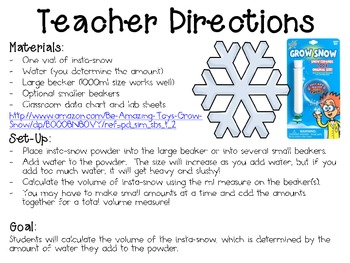 Let it Snow with Instant Snow ~ Monthly School-wide Science Challenge ~ STEM