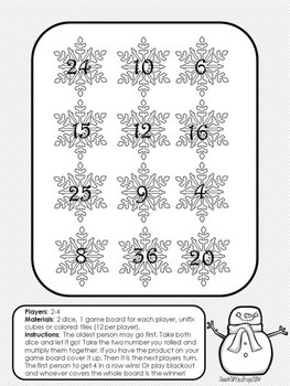 Let it go Multiplication Game (Dice)