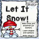 Let it snow!  STEM Challenge, Math and Writing activities!