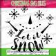 Let it snow SVG - Snowman Svg - Christmas SVG - Xmas svg