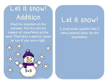 Let it snow addition