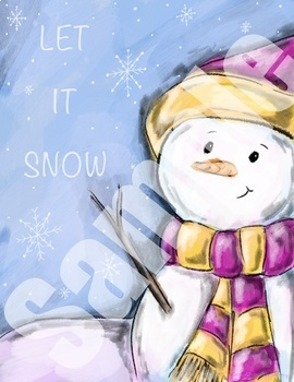 Let it snow winter poster