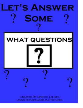 """Let's Answer """"What"""" Questions: Autism, Speech, """"Wh"""" questions"""
