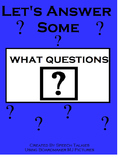 "Let's Answer ""What"" Questions: Autism, Speech, ""Wh"" questions"