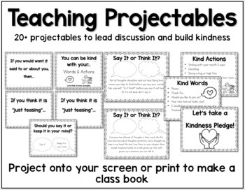 Kindness Mini-Unit - Let's Be Kind - Poems Printables Projectables