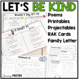 Kindness Unit - Let's Be Kind - Poems Printables Projectables
