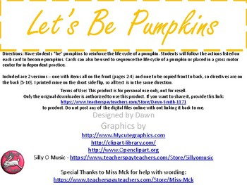 Let's Be Pumpkins!