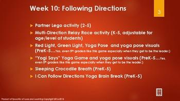 Let's Be Social! 9 MORE weeks of social skills, yoga breaks, calming strategies