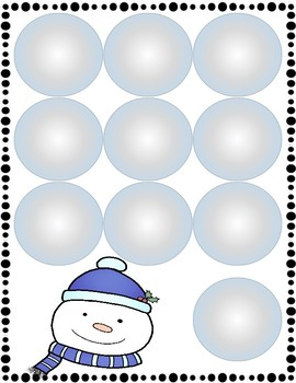 Let's Build A Snowman: Counting and Measuring Game