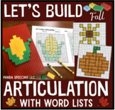 Let's Build Articulation (with word lists): A Fall Themed Toy Companion