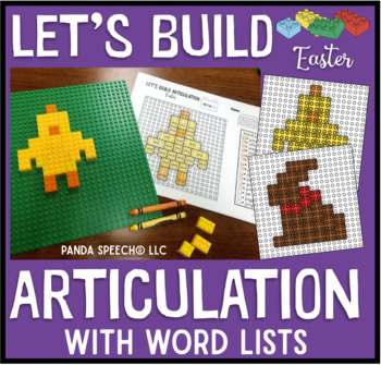 Let's Build Articulation (with word lists): An Easter themed toy companion